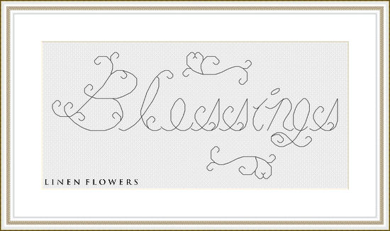 #240 Blessings by Linen Flowers