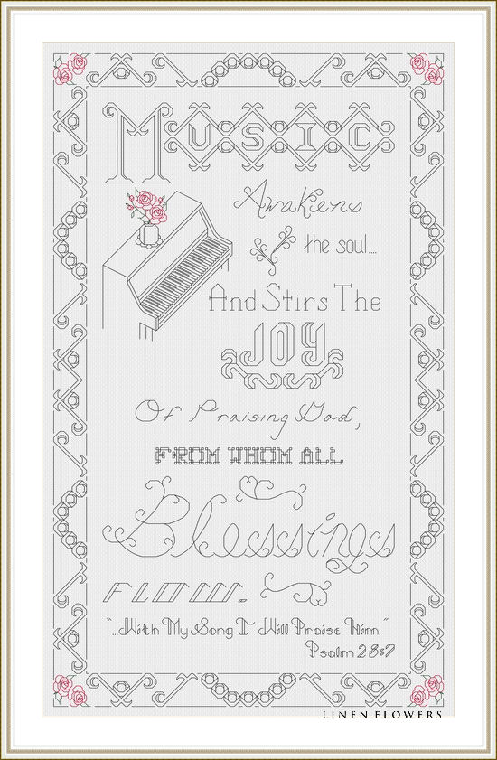 #240 The Joy Of Praise by Linen Flowers