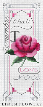 #245 Remember I Love You Bookmark by Linen Flowers