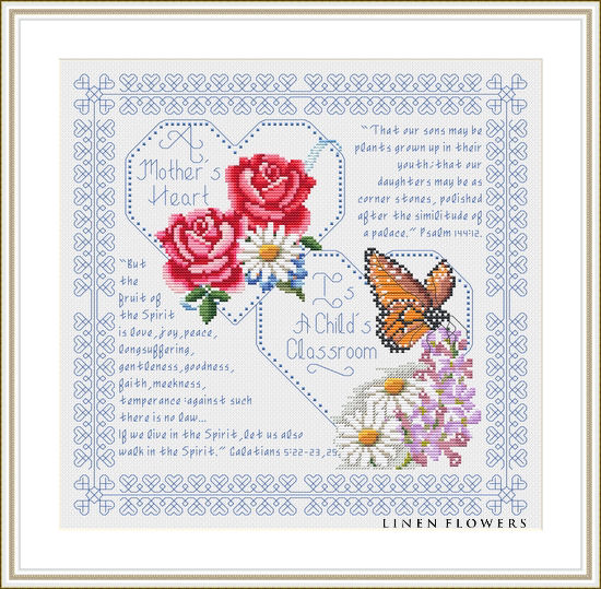 #38 A Mother's Heart by Linen Flowers