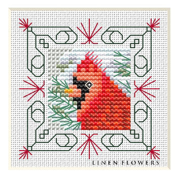 #QF01 Winter Cardinal by Linen Flowers